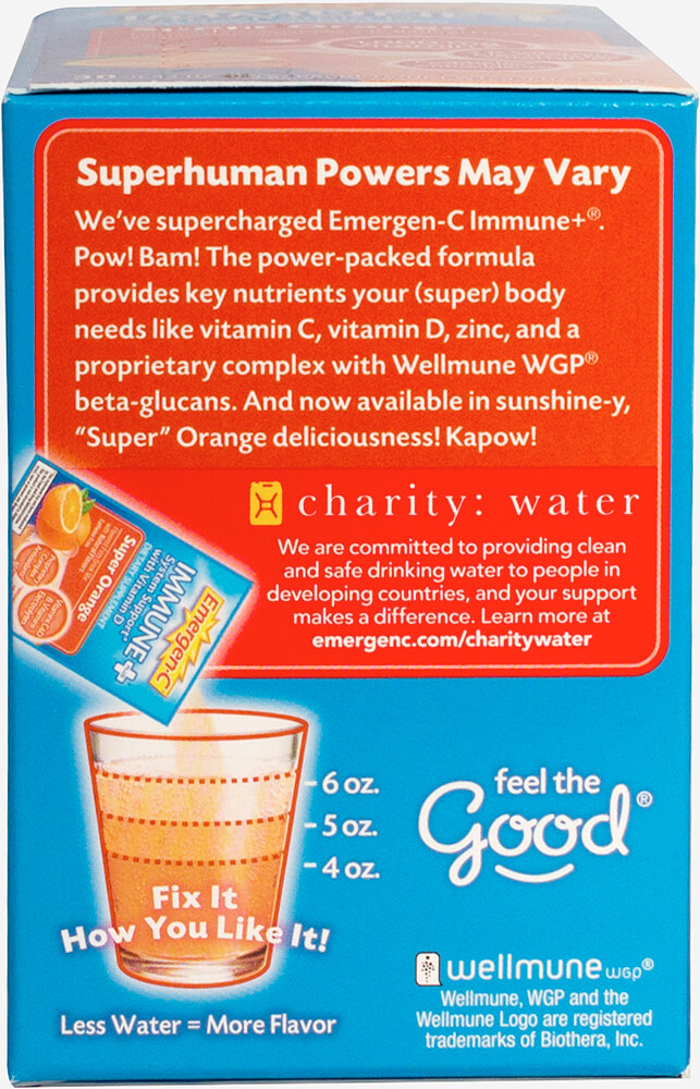 Emergen-C Immune+ Super Orange Thumbnail Alternate Bottle View