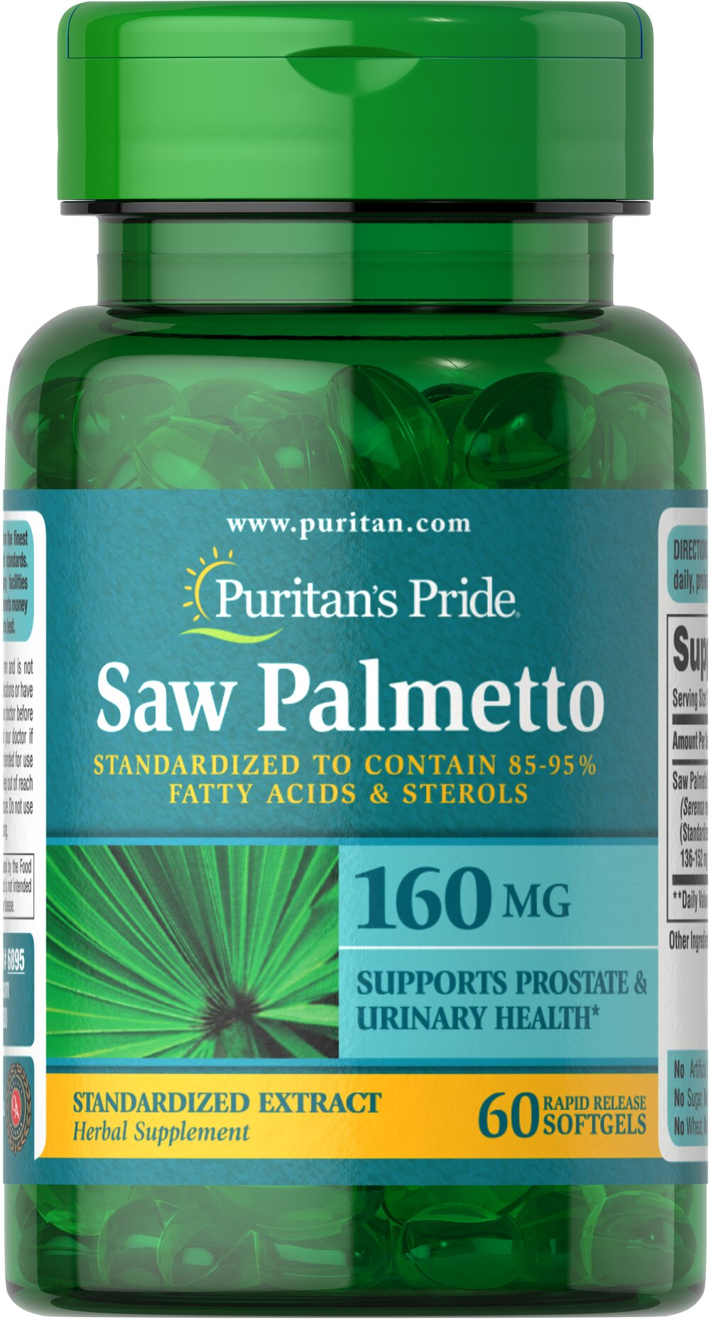 Saw Palmetto Standardized Extract 160 mg Thumbnail Alternate Bottle View
