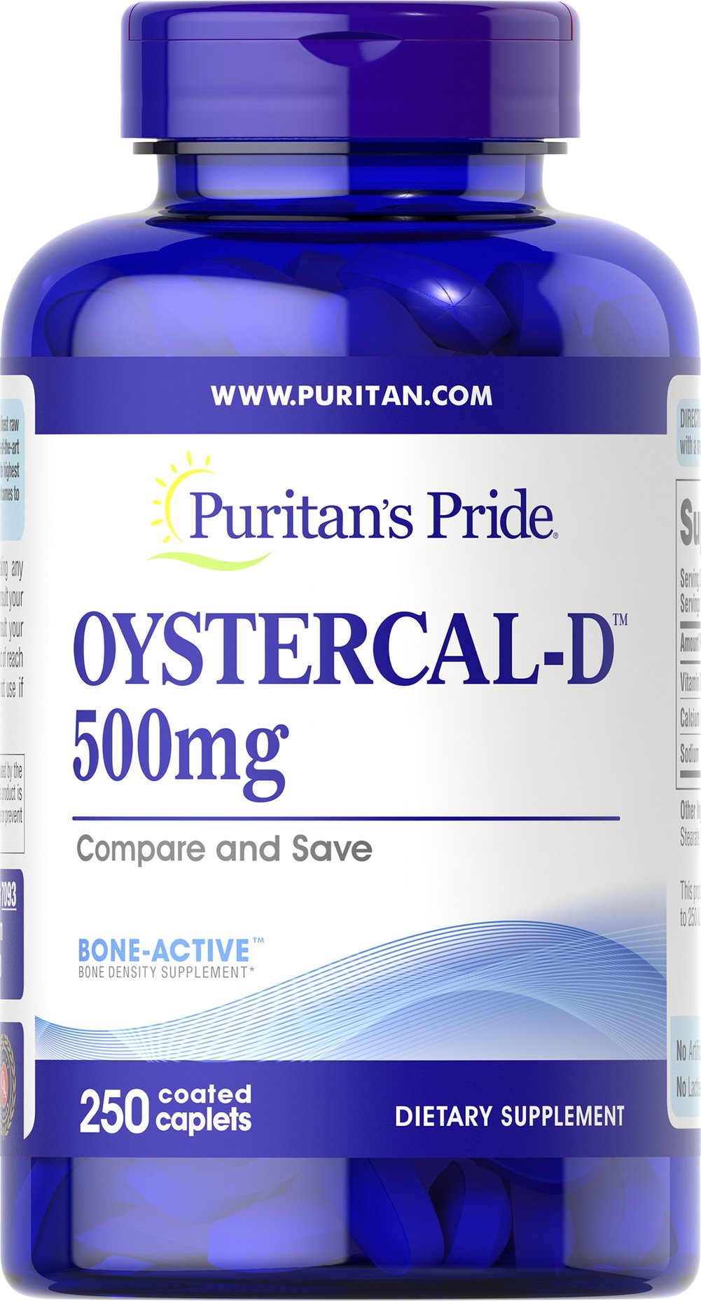 Oystercal-D™ 500 mg Thumbnail Alternate Bottle View