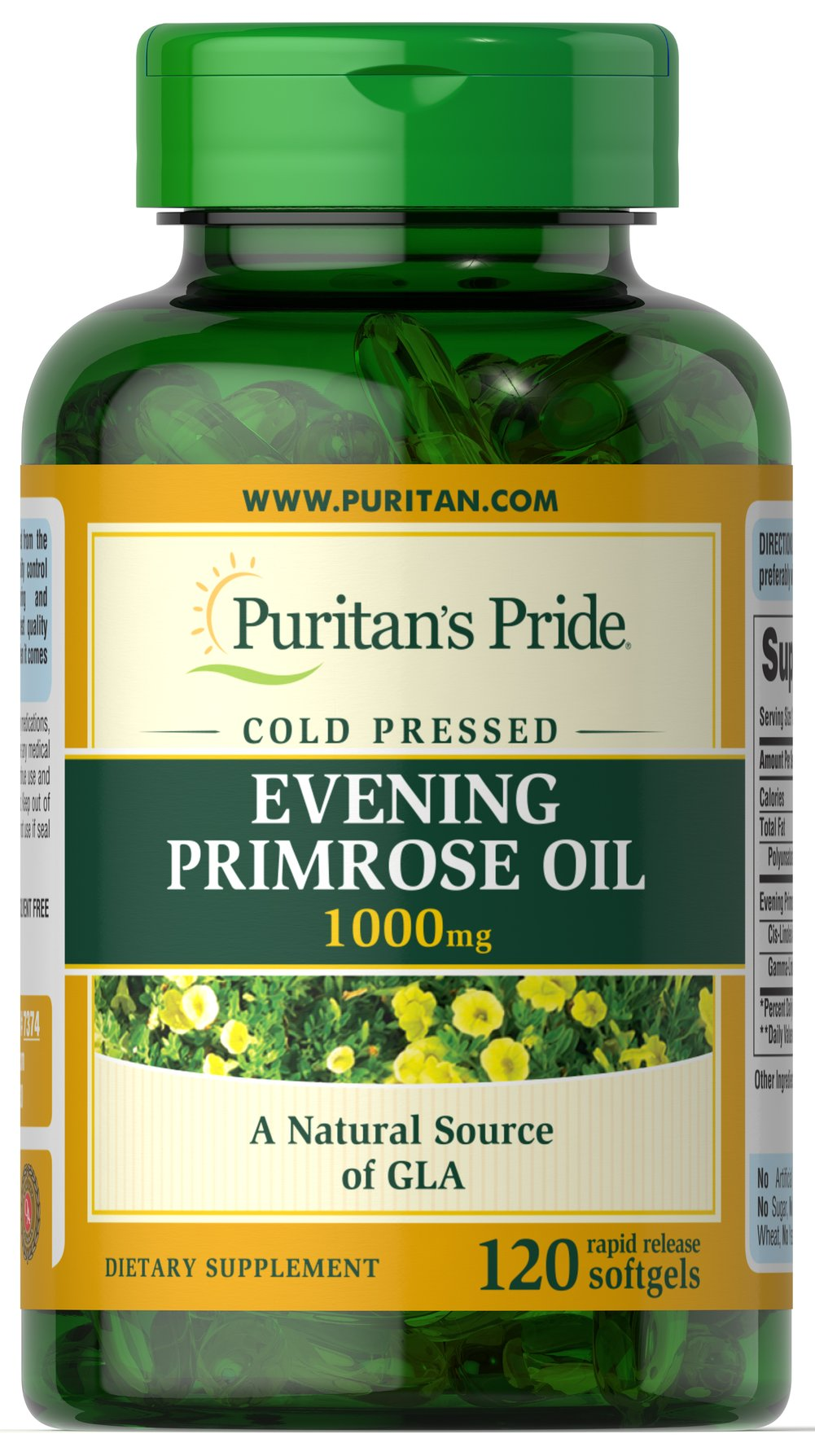 Evening Primrose Oil 1000 mg with GLA Thumbnail Alternate Bottle View