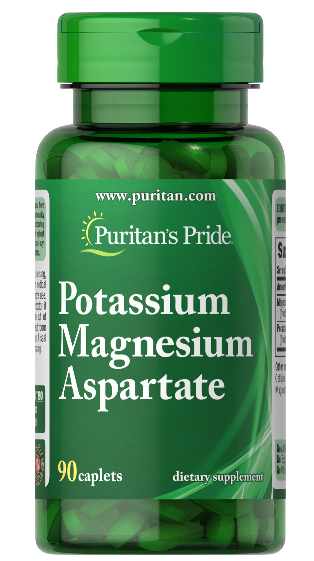 Potassium Magnesium Aspartate Thumbnail Alternate Bottle View