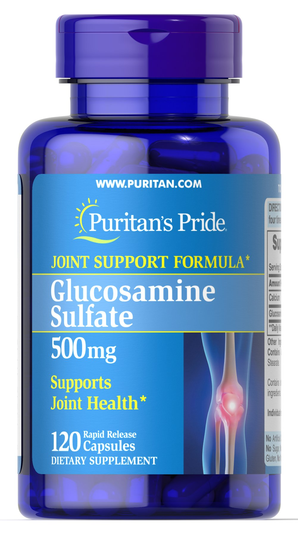 Glucosamine Sulfate 500 mg Thumbnail Alternate Bottle View
