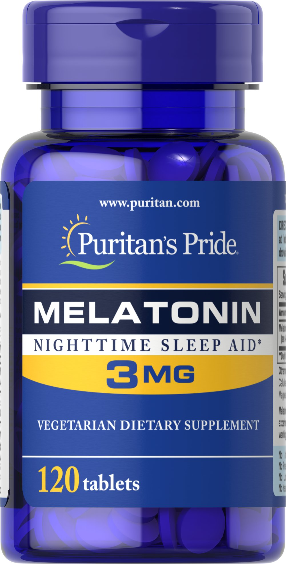 Melatonin 3 mg Thumbnail Alternate Bottle View