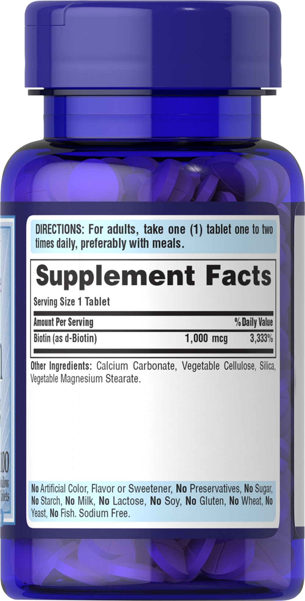 Biotin 1000 mcg Thumbnail Alternate Bottle View