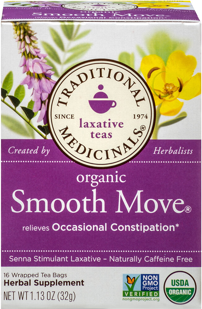 Organic Smooth Move Tea Thumbnail Alternate Bottle View