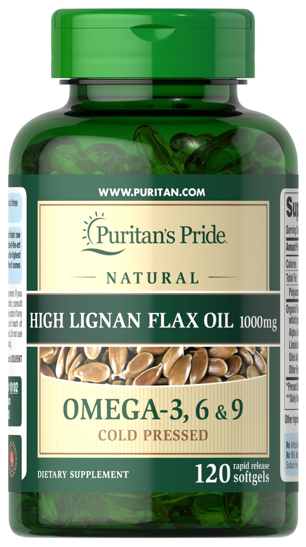 Natural Flax Oil 1000 mg