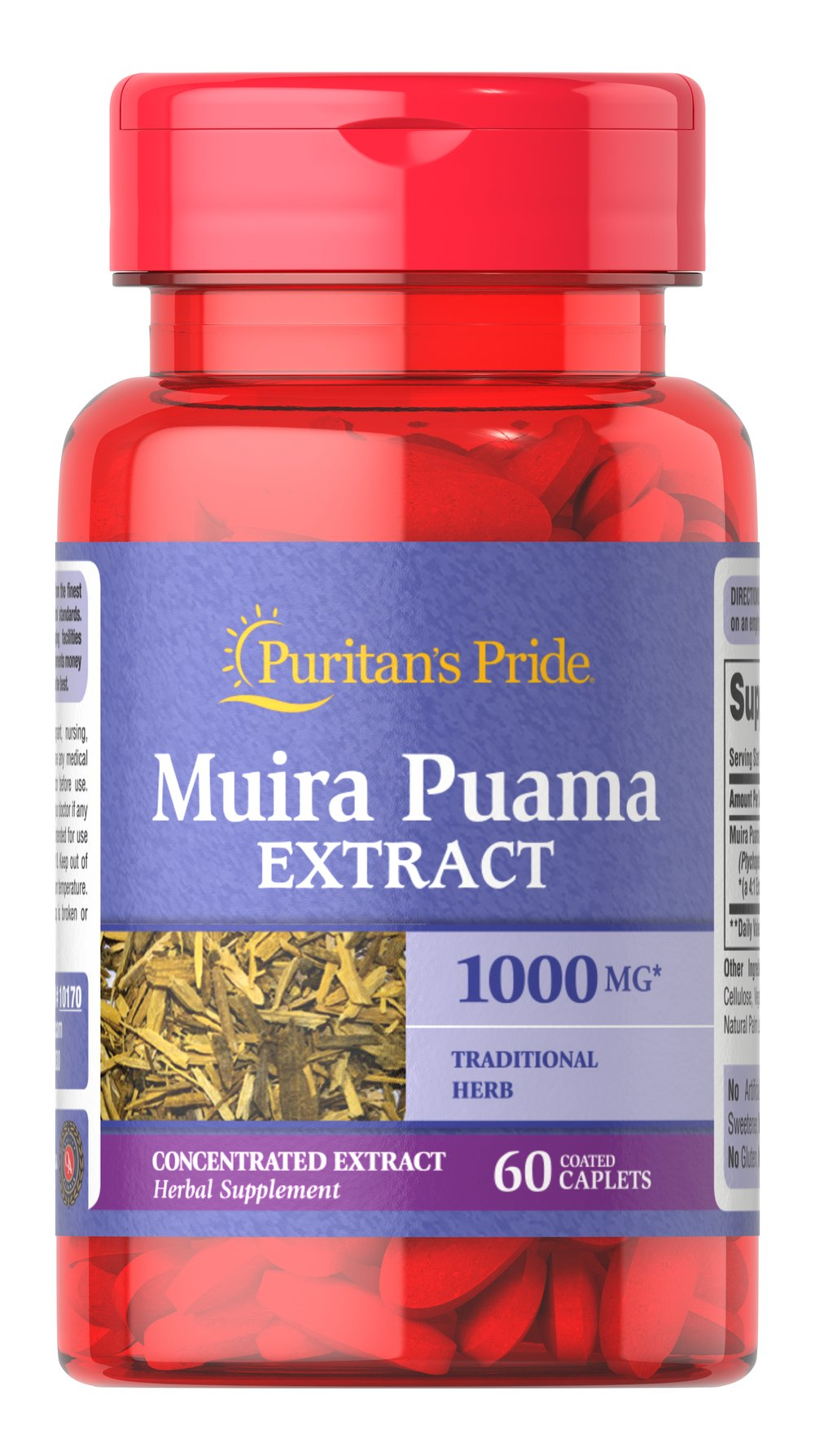 Muira Puama 1000 mg Thumbnail Alternate Bottle View