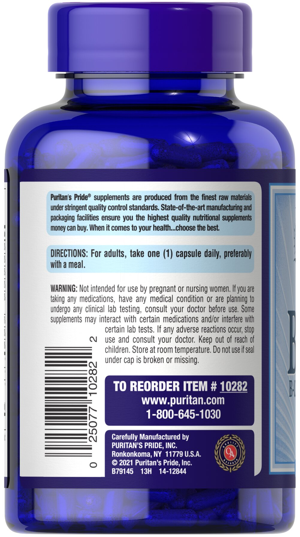 Vitamin B-100 Complex Thumbnail Alternate Bottle View