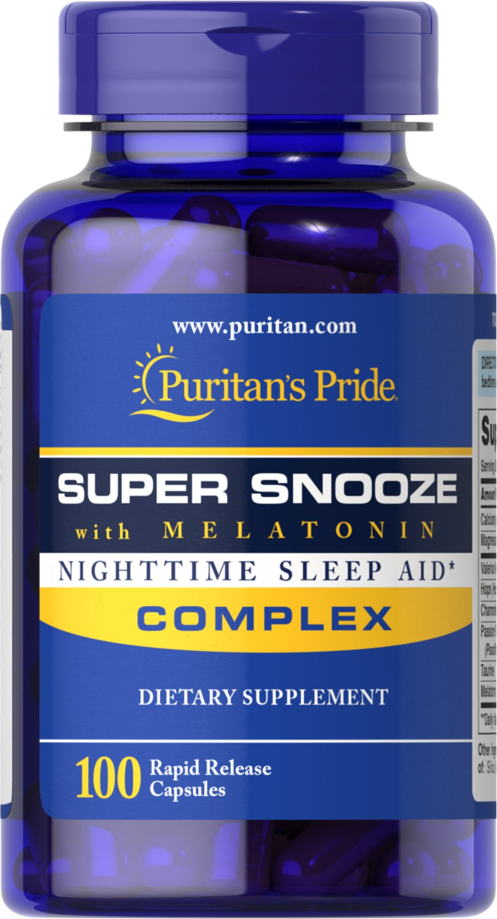 Super Snooze with Melatonin Thumbnail Alternate Bottle View