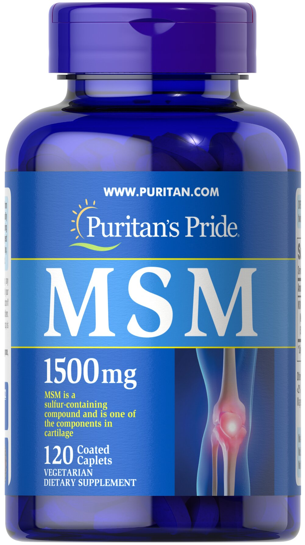 MSM 1500 mg Thumbnail Alternate Bottle View