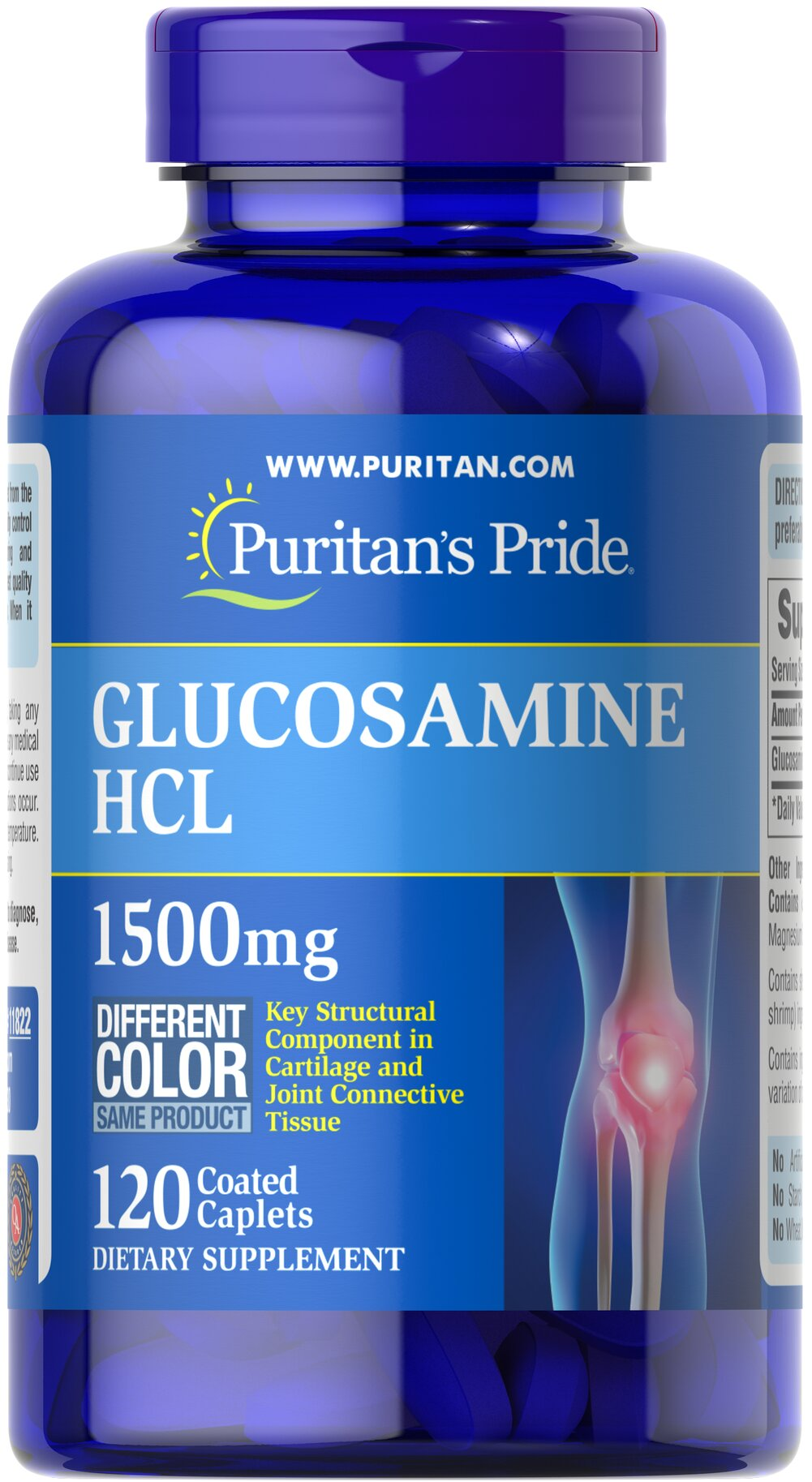 Glucosamine 1500 mg Thumbnail Alternate Bottle View