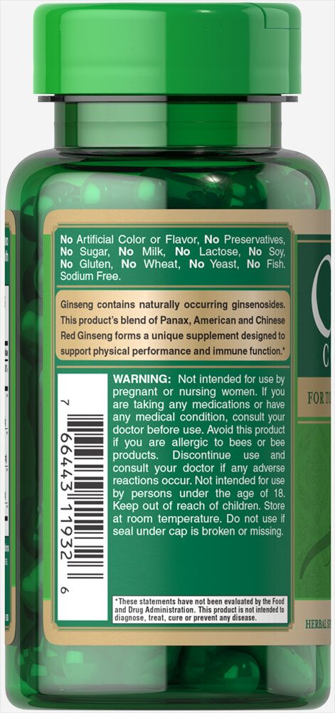 Ginseng Complex Thumbnail Alternate Bottle View