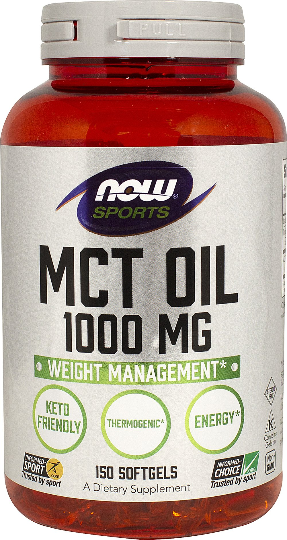MCT Oil 1000 mg Thumbnail Alternate Bottle View