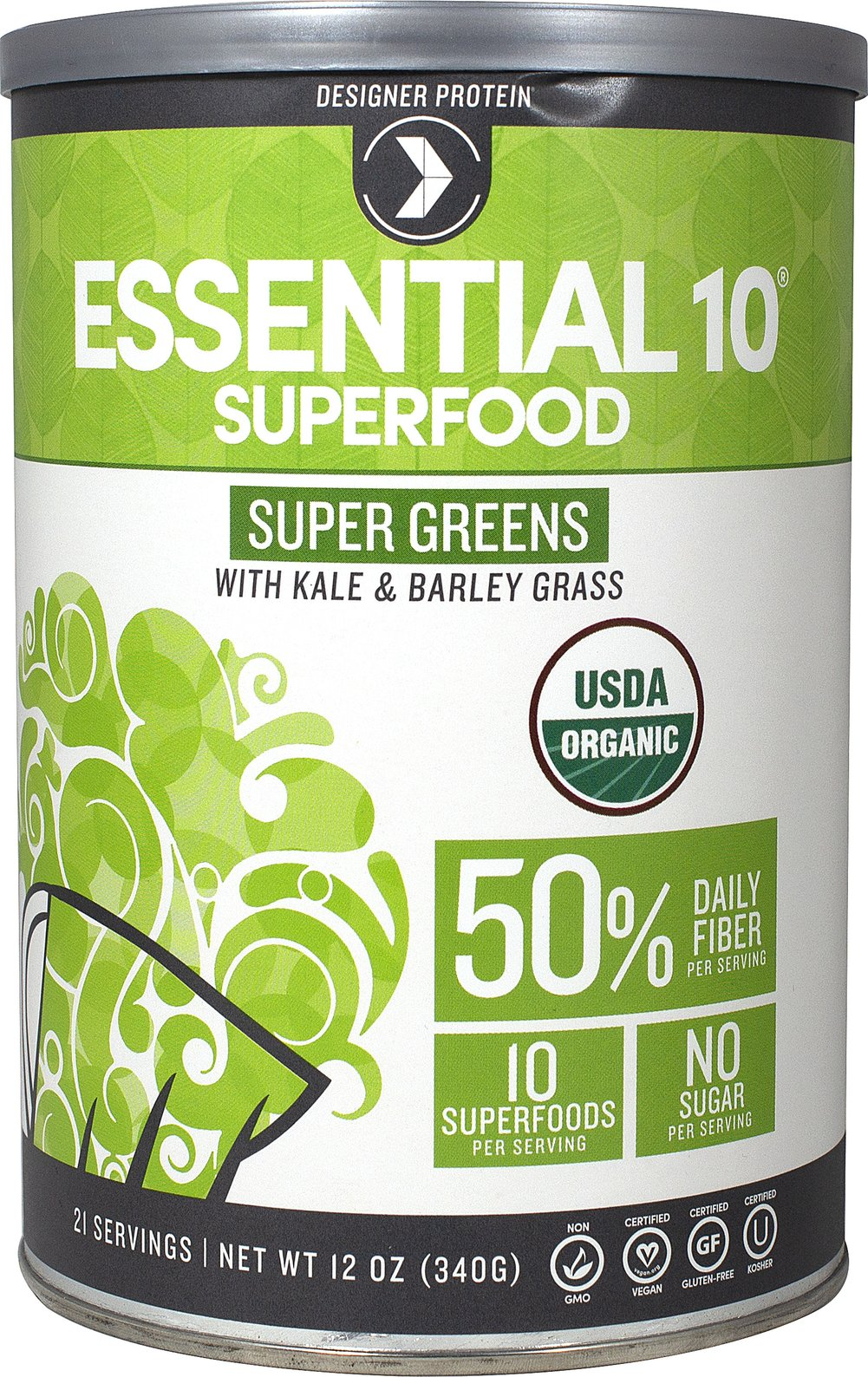 Essential 10 Superfood Super Greens Thumbnail Alternate Bottle View