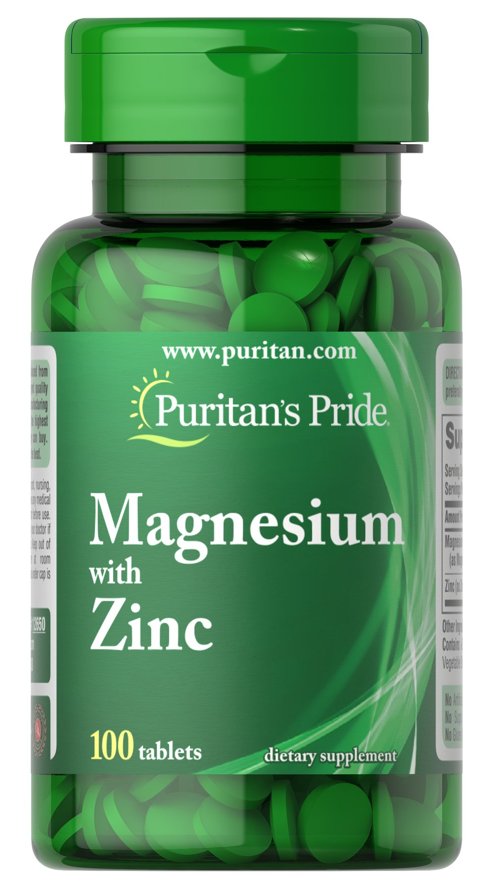 Magnesium with Zinc Thumbnail Alternate Bottle View