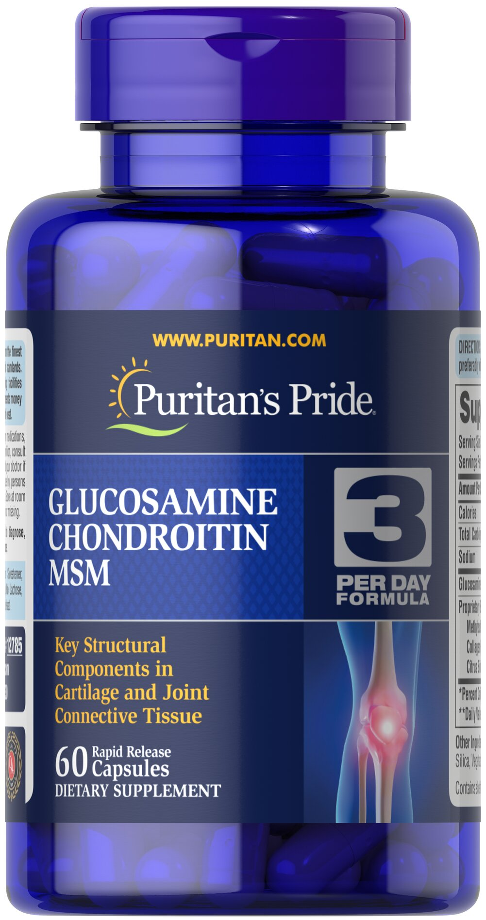 Double Strength Glucosamine, Chondroitin & MSM Joint Soother® Thumbnail Alternate Bottle View