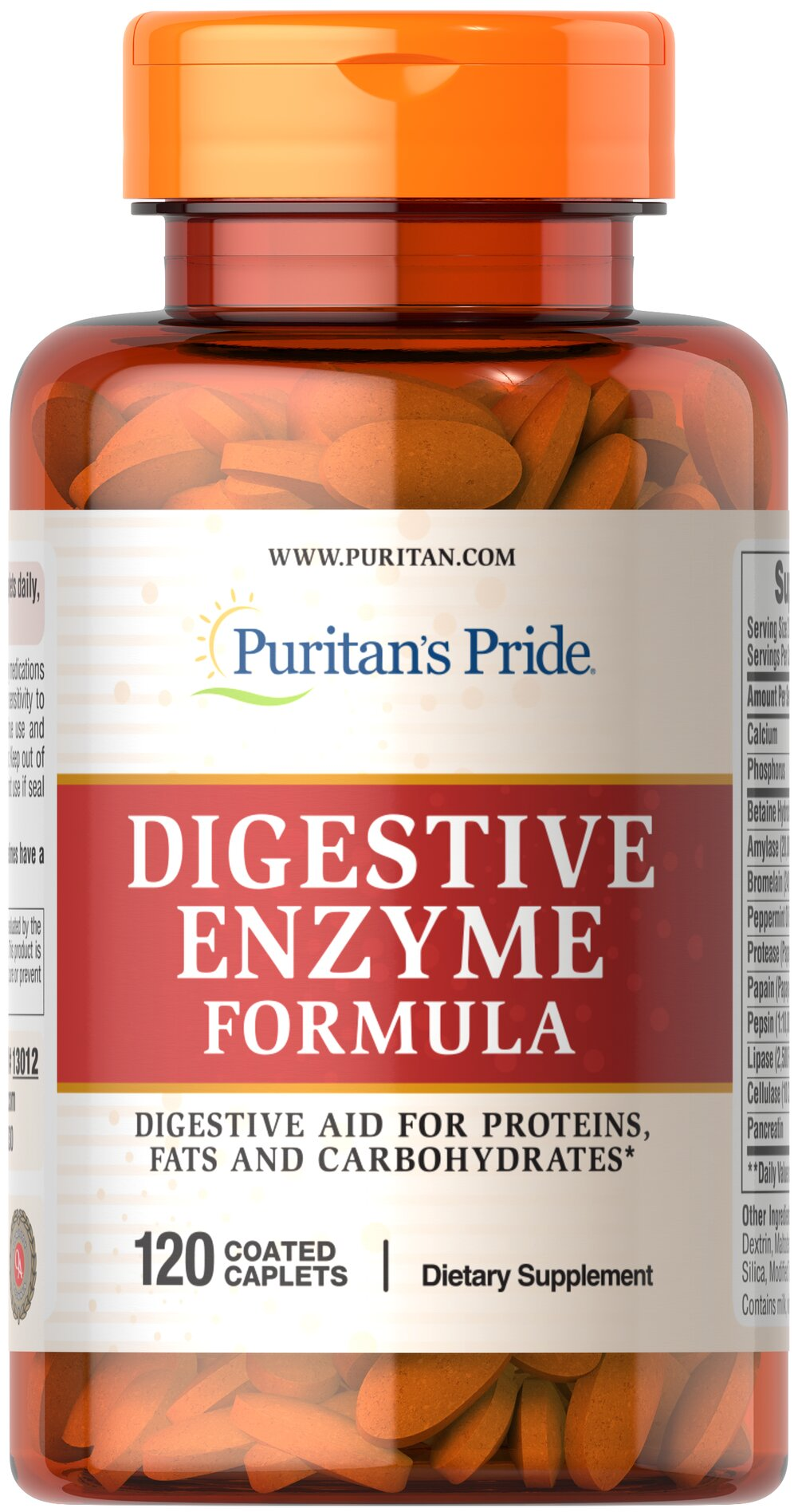 Puritan's Pride Super Strength Multi Enzyme-120 Caplets