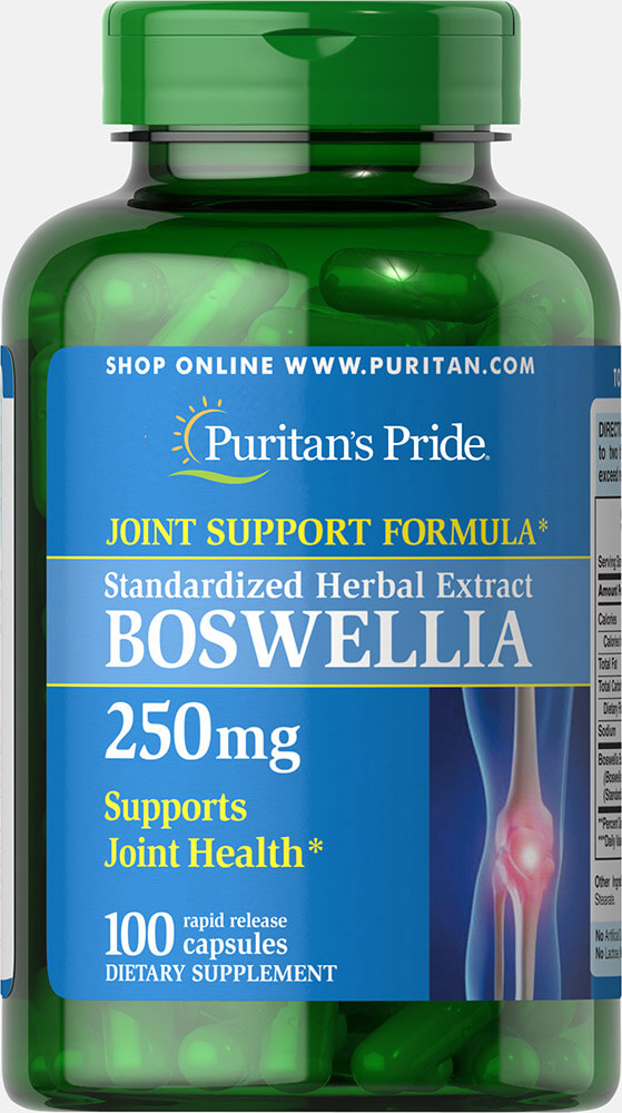 Boswellia Standardized Extract 250 mg Thumbnail Alternate Bottle View