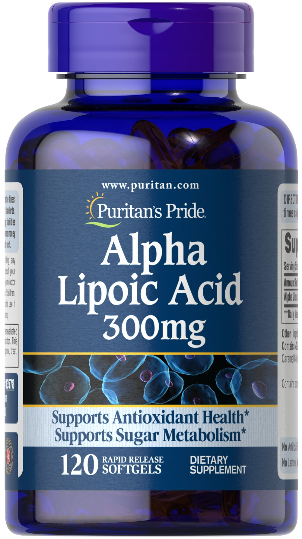 Alpha Lipoic Acid 300 mg Thumbnail Alternate Bottle View