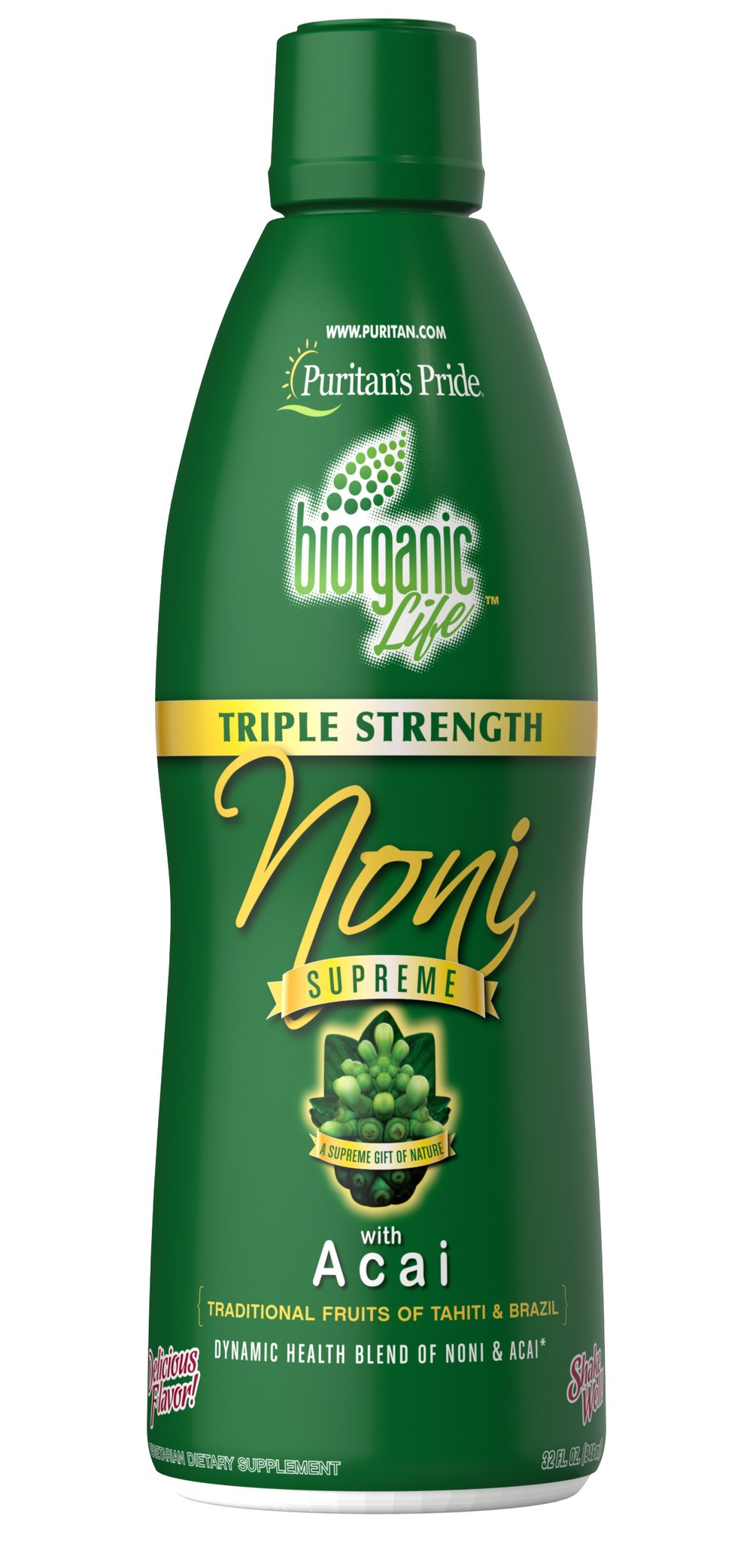 Triple Strength Noni Supreme Juice with Acai Thumbnail Alternate Bottle View