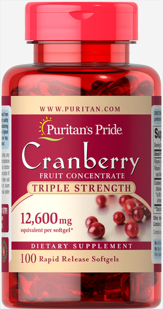 Triple Strength Cranberry Fruit Concentrate 12,600 mg Thumbnail Alternate Bottle View