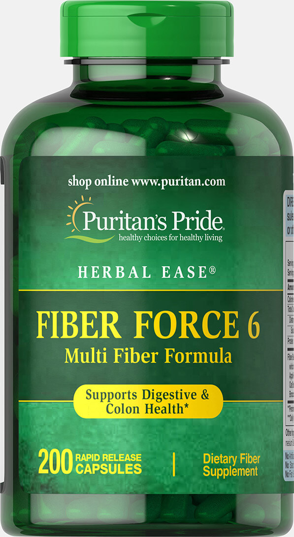 Puritan's Pride Fiber Force 6-200 Capsules