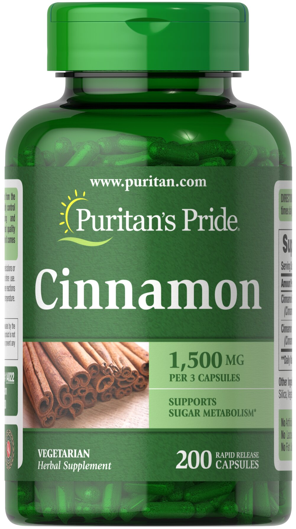 Cinnamon 500 mg Thumbnail Alternate Bottle View