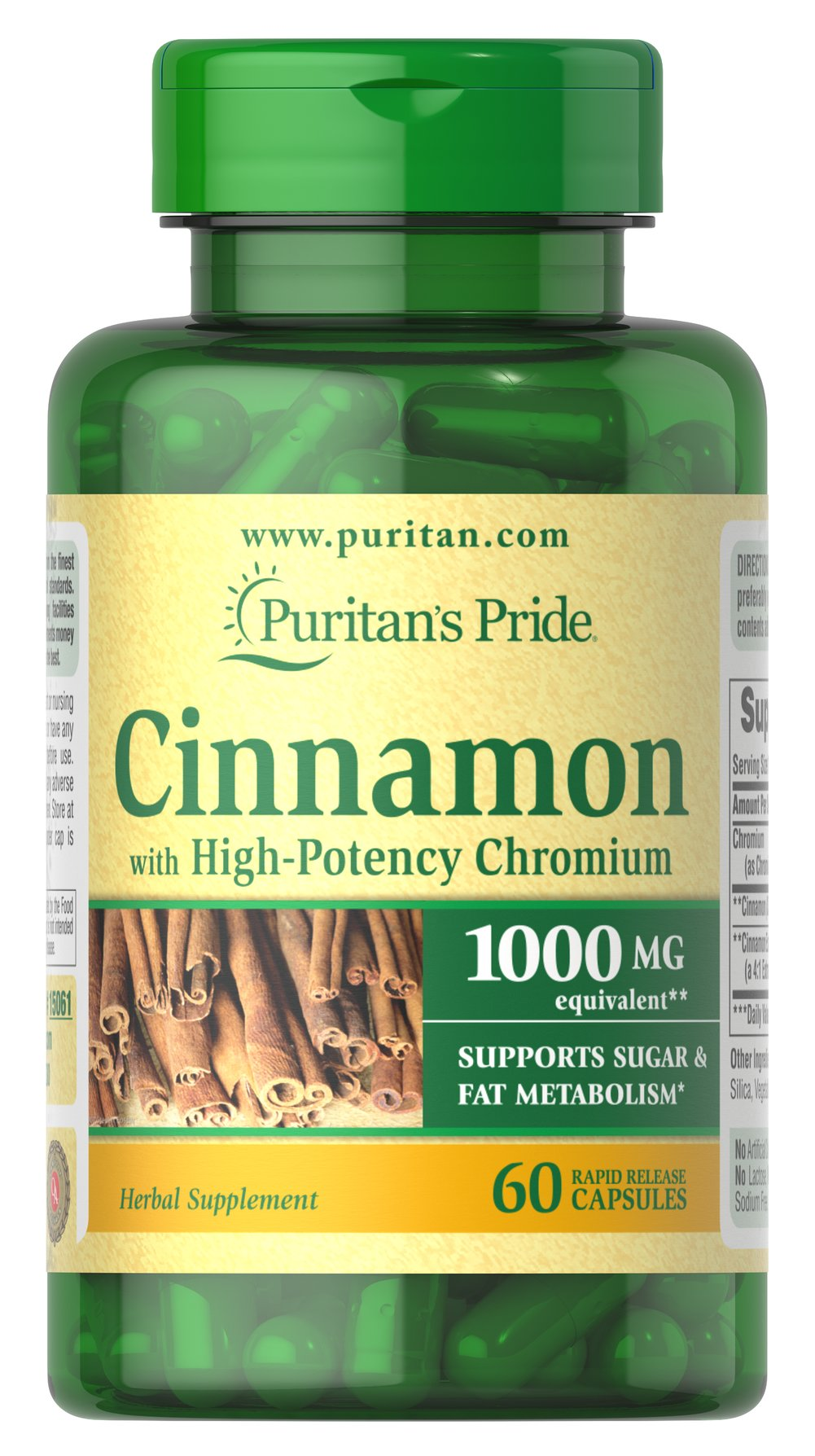 Cinnamon Complex with High Potency Chromium Thumbnail Alternate Bottle View