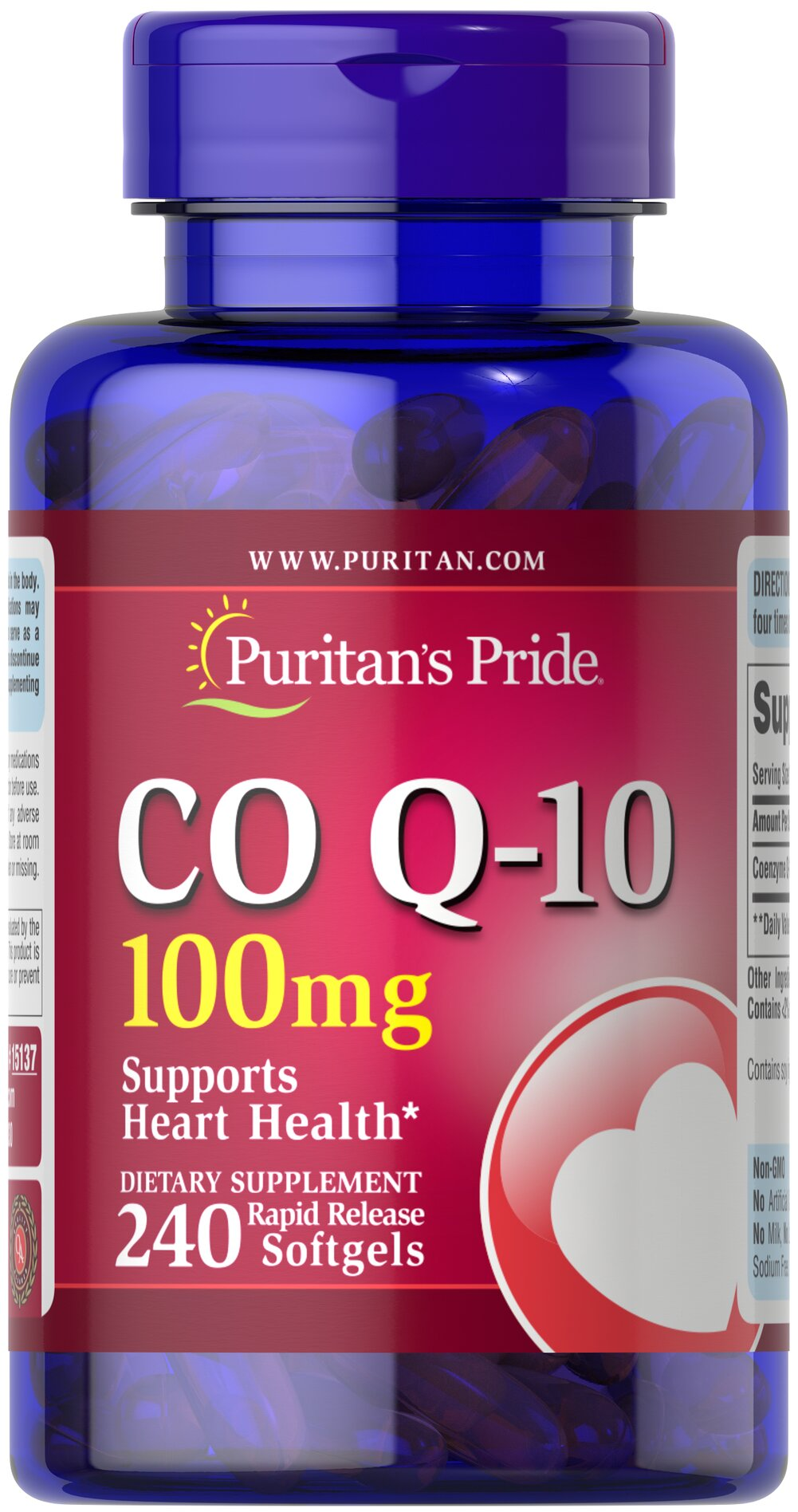 Q-SORB™ Co Q-10 100 mg Thumbnail Alternate Bottle View