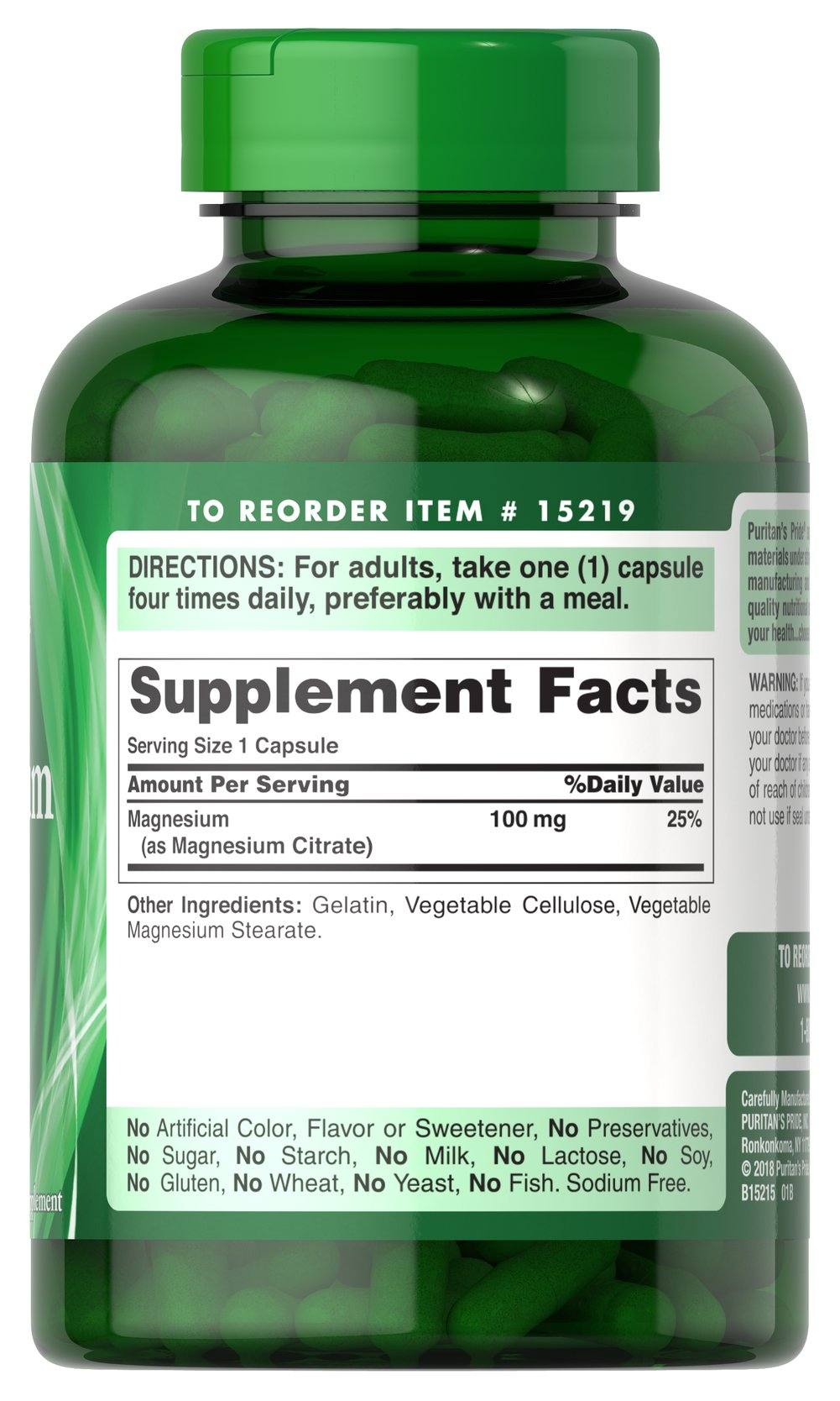 Magnesium Citrate 100 mg