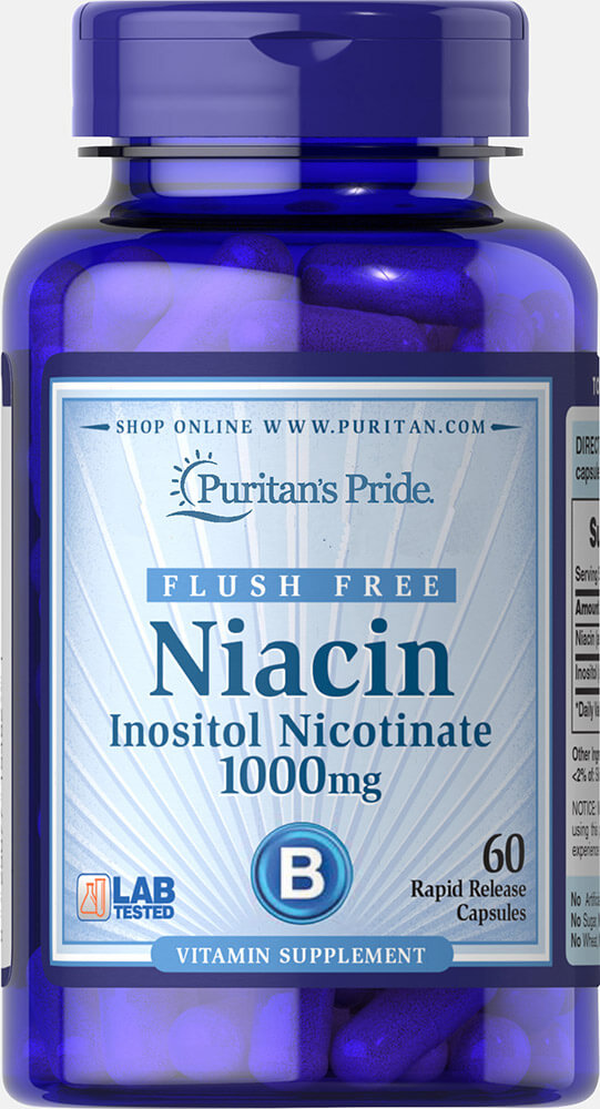 Flush Free Niacin Inositol Nicotinate 1000 mg Thumbnail Alternate Bottle View