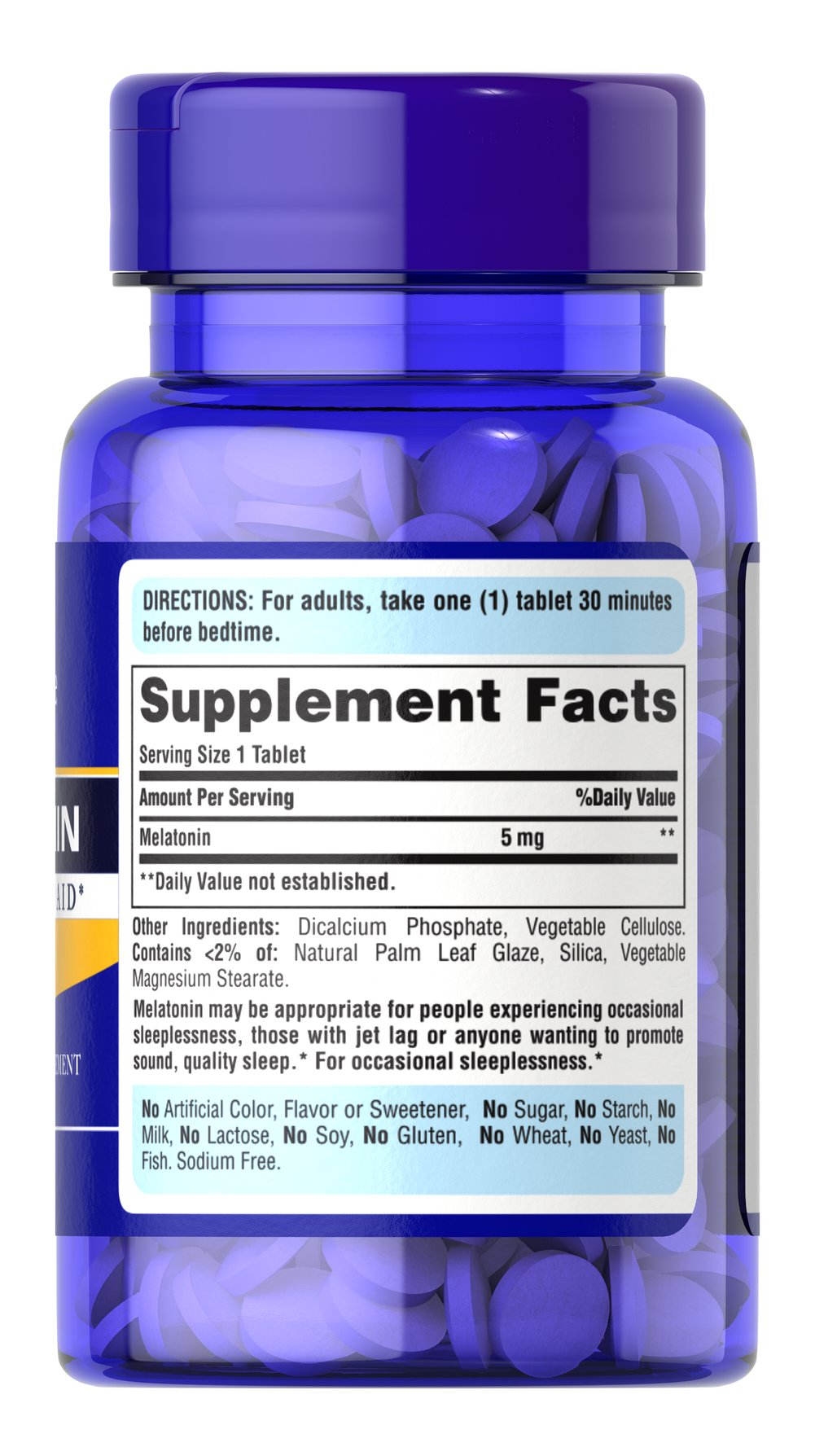Extra Strength Melatonin 5 mg Thumbnail Alternate Bottle View