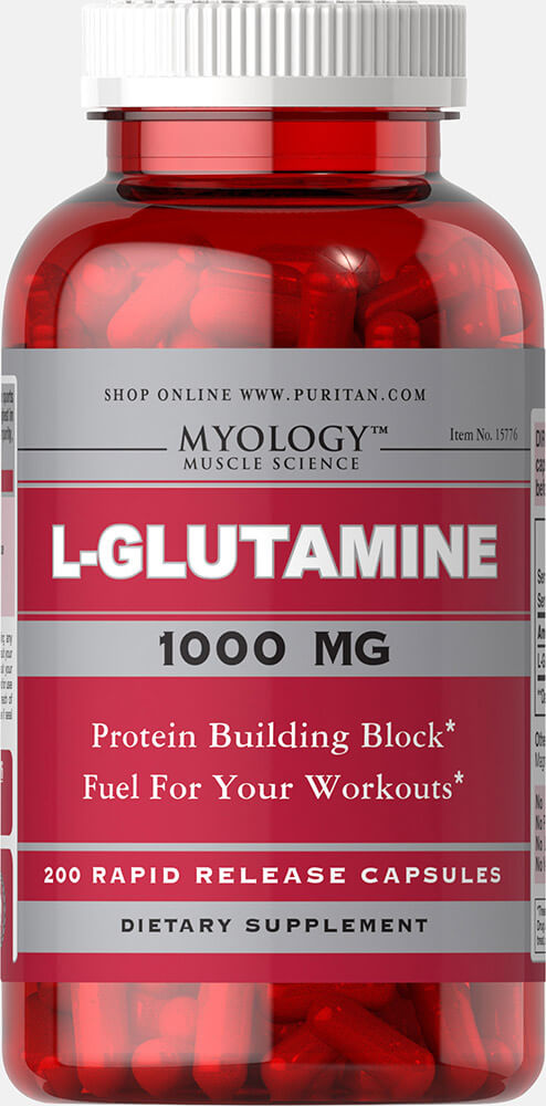 L-Glutamine 1000 mg Thumbnail Alternate Bottle View