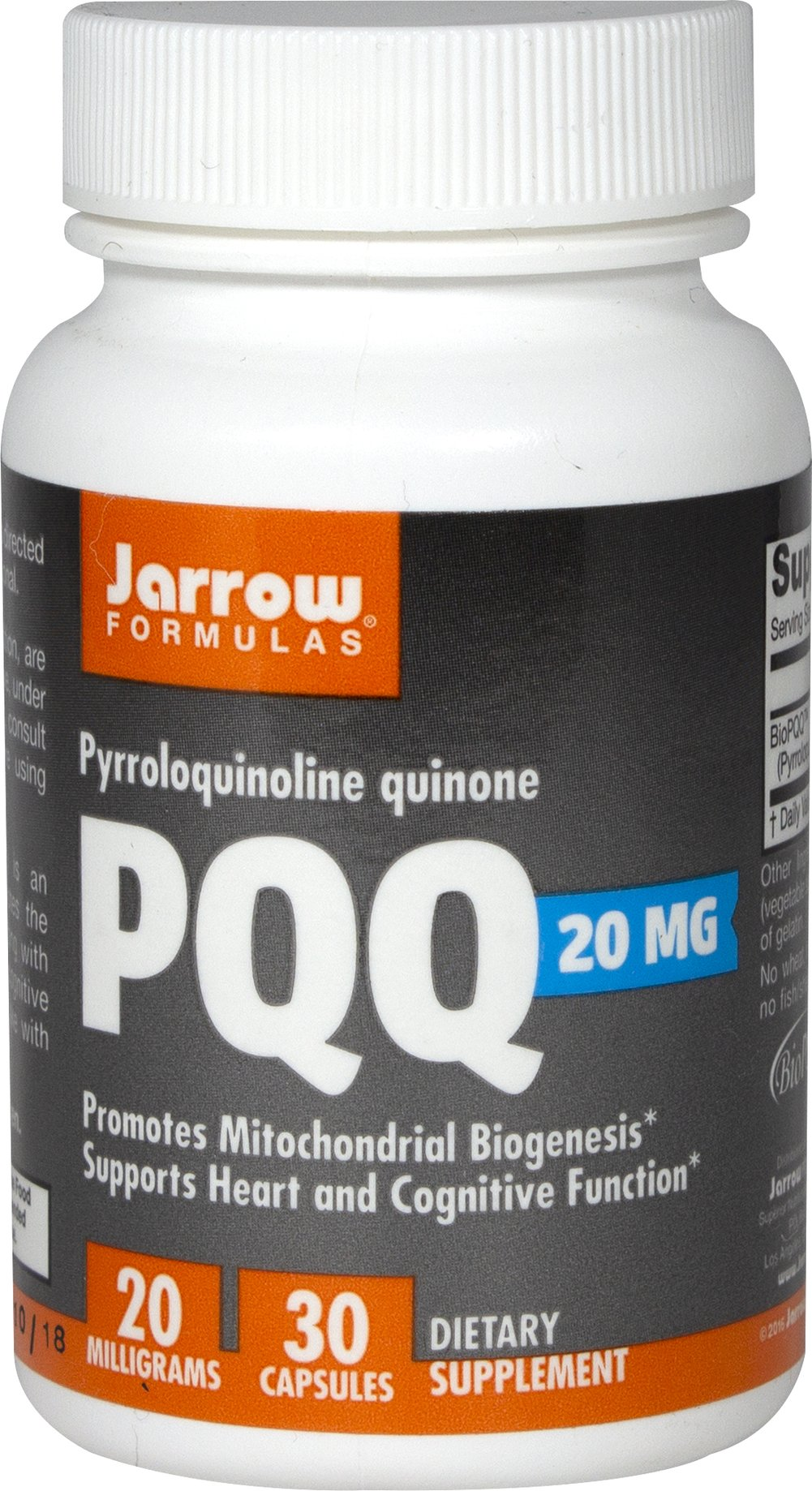 PQQ 20 mg Thumbnail Alternate Bottle View