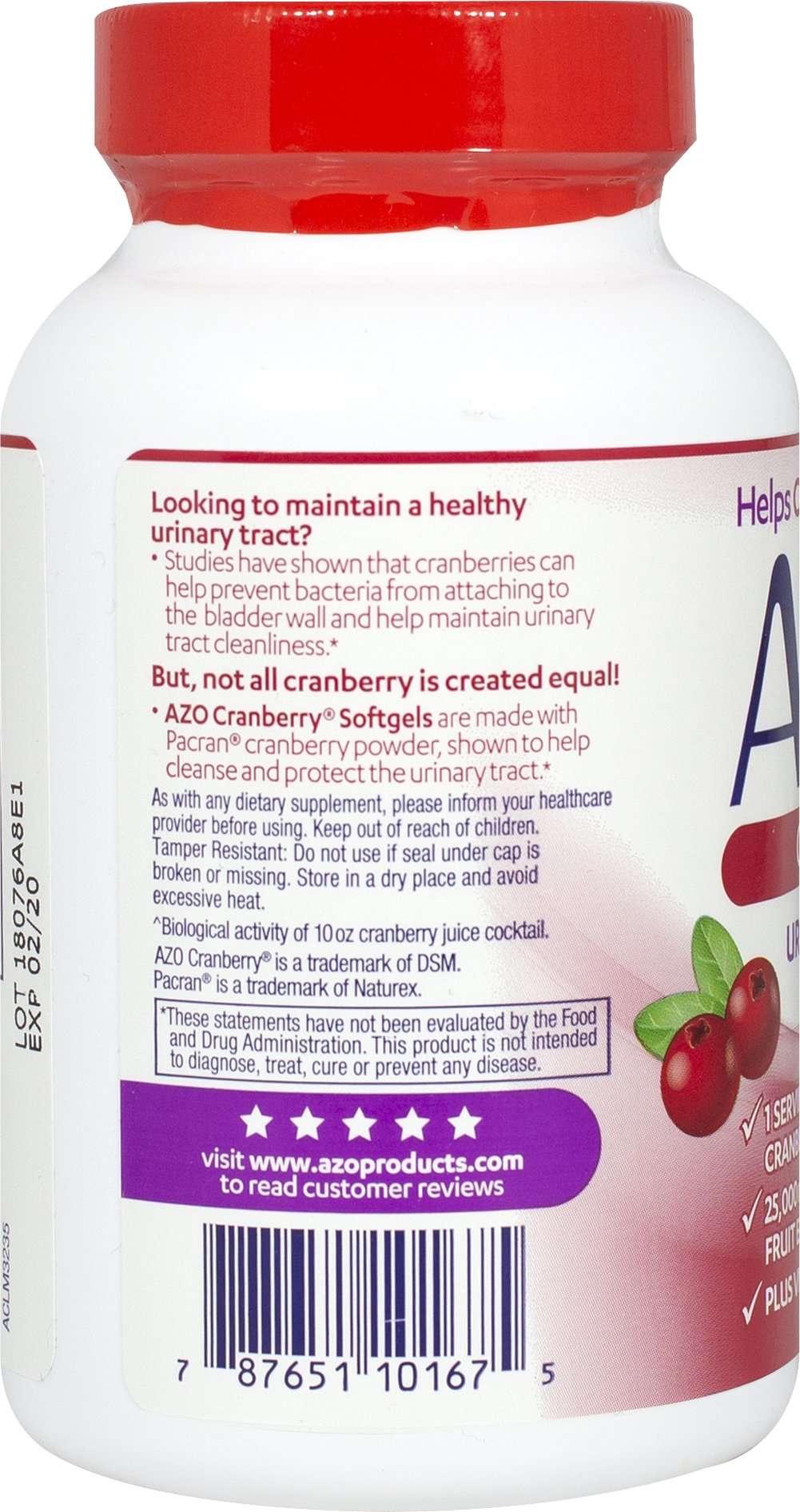 Cranberry Urinary Tract Health Thumbnail Alternate Bottle View