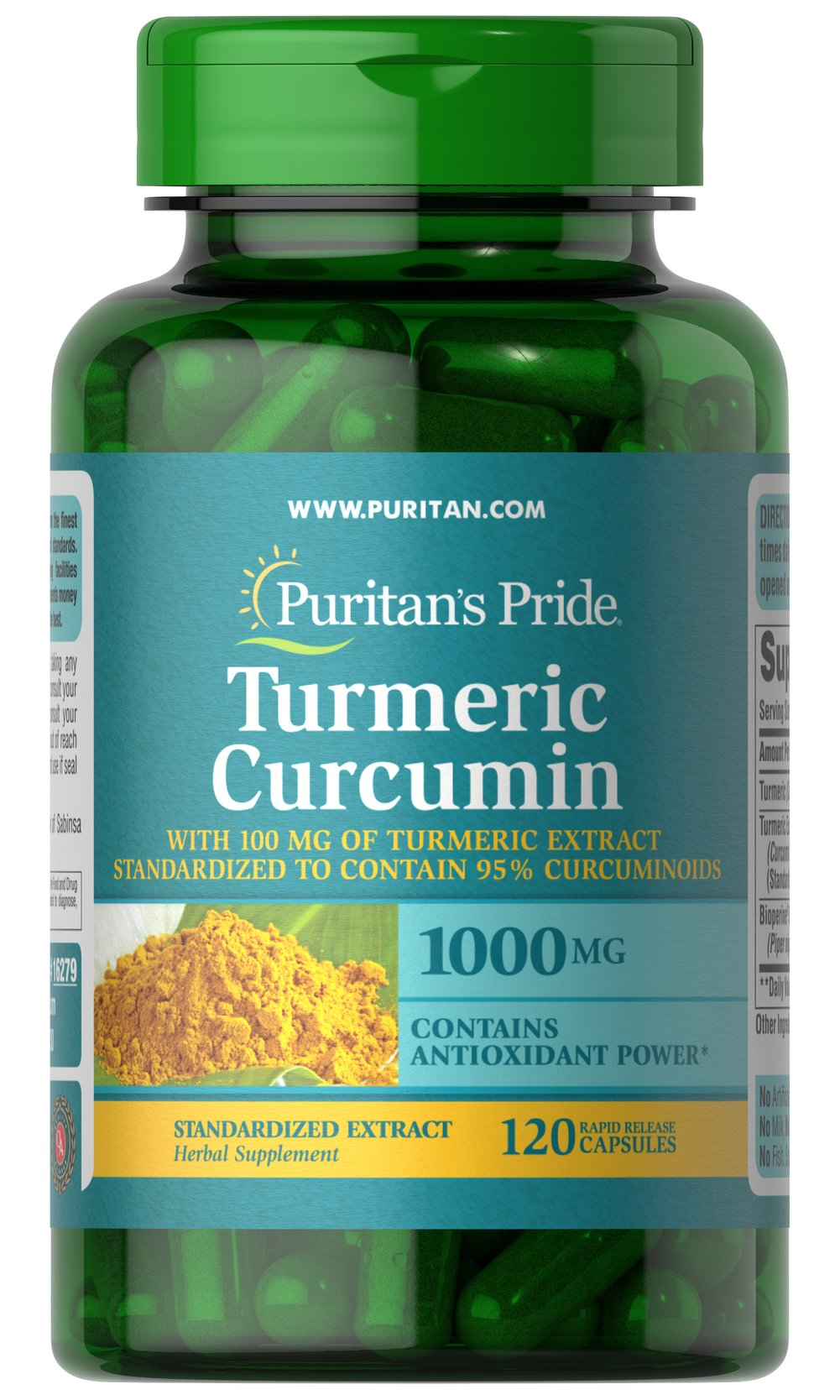 Turmeric Curcumin with Bioperine 1,000 mg Thumbnail Alternate Bottle View