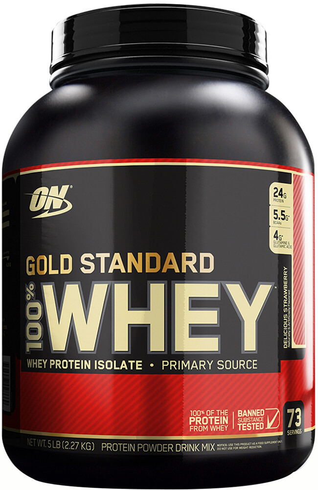 100% Gold Standard Whey Delicious Strawberry
