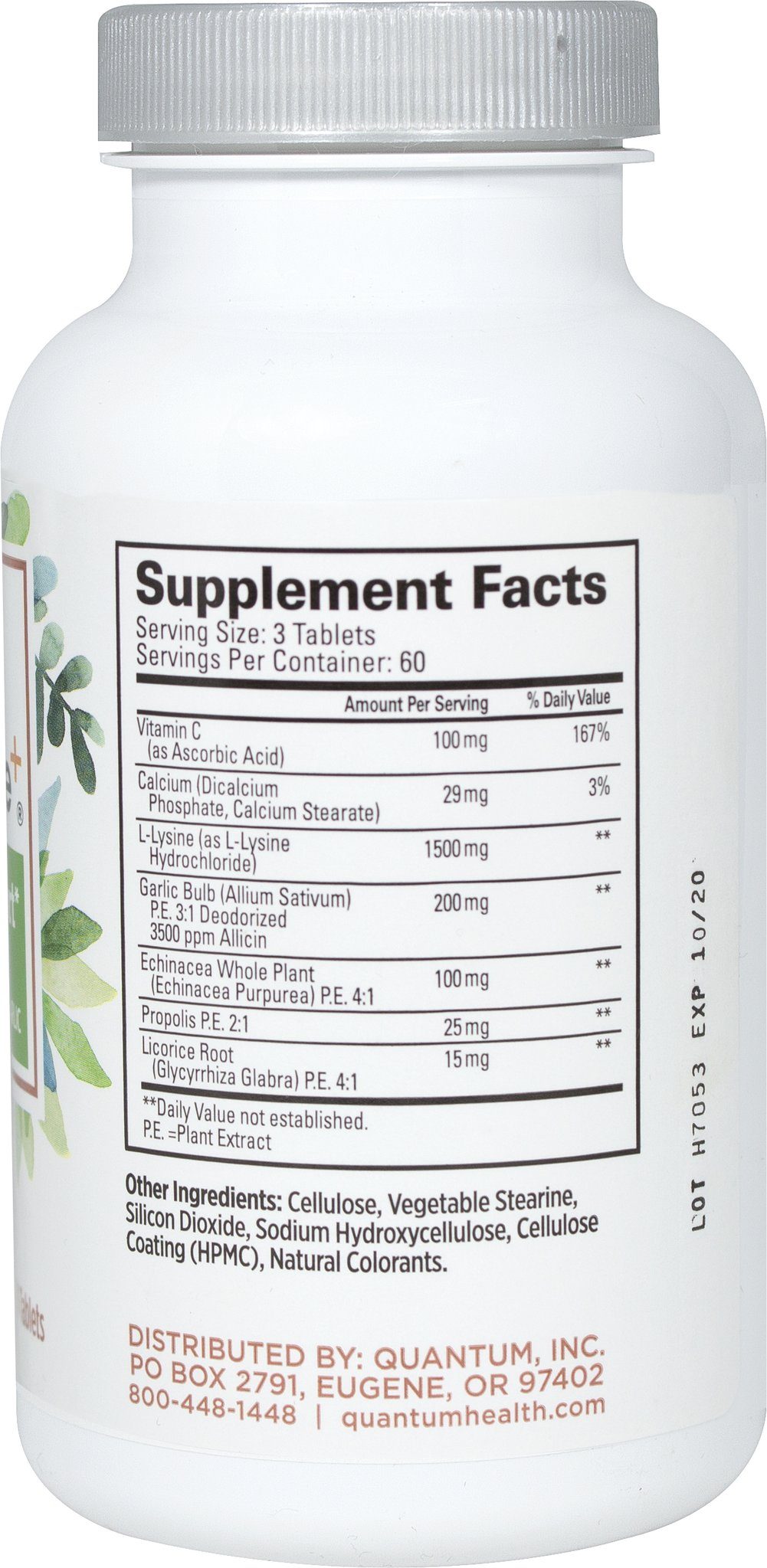 Super Lysine +® w/ Vitamin C & Echinacea Thumbnail Alternate Bottle View