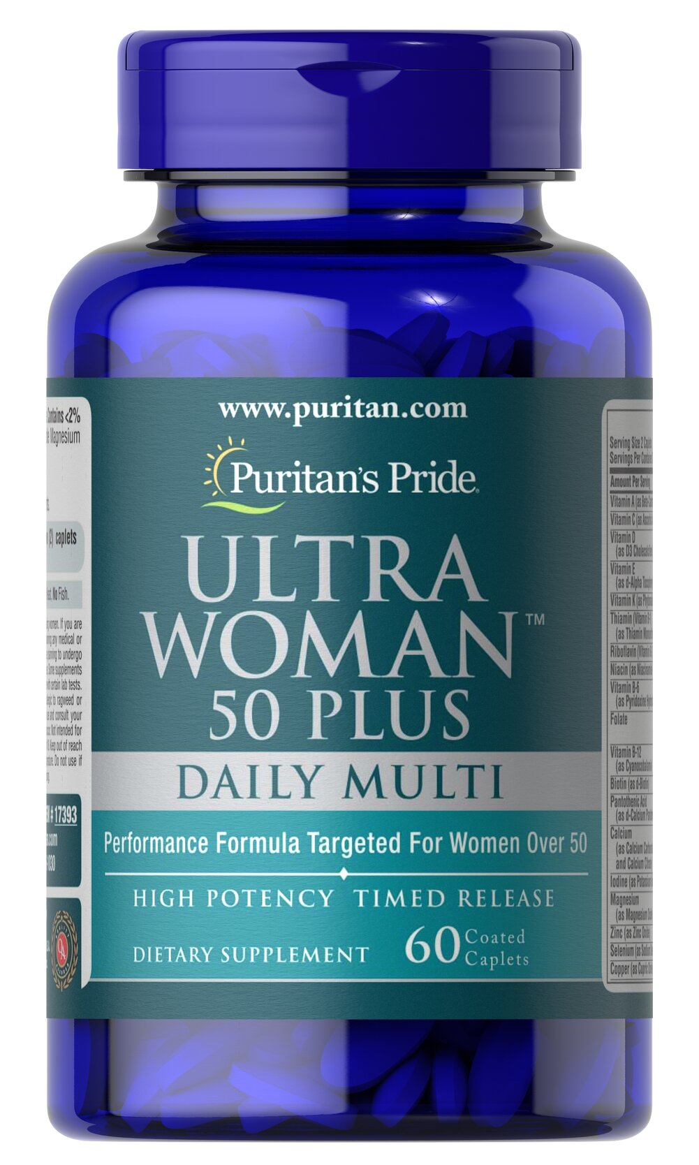 Ultra Woman™ 50 Plus Multi-Vitamin with Zinc Thumbnail Alternate Bottle View