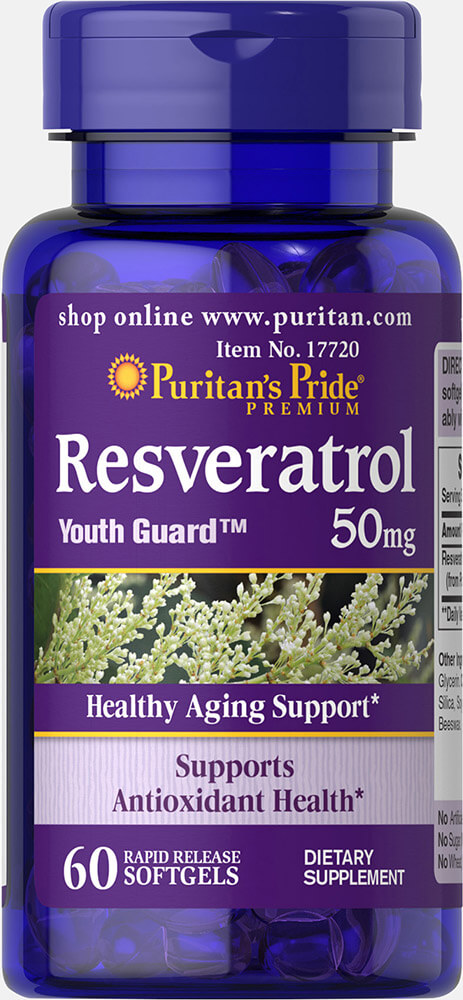 Resveratrol 50 mg Thumbnail Alternate Bottle View