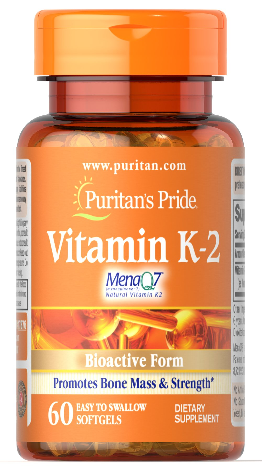 Vitamin K-2 (MenaQ7) 50 mcg Thumbnail Alternate Bottle View