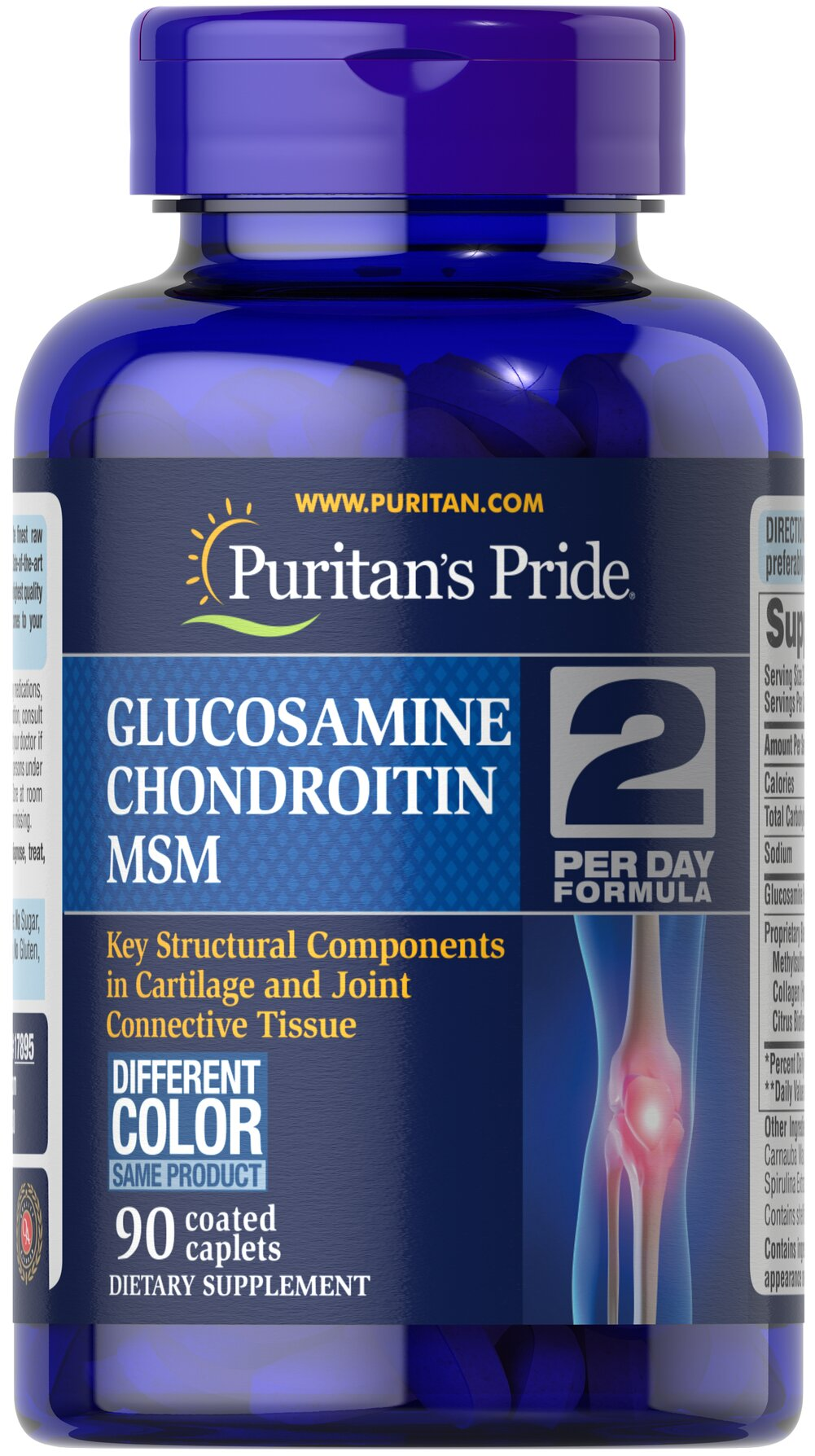 Triple Strength Glucosamine, Chondroitin & MSM Joint Soother® Thumbnail Alternate Bottle View