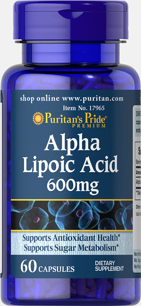 Alpha Lipoic Acid 600 mg Thumbnail Alternate Bottle View