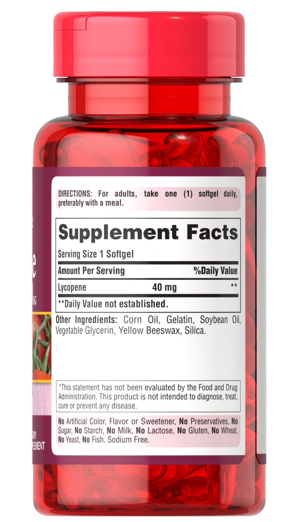 Lycopene 40 mg Thumbnail Alternate Bottle View