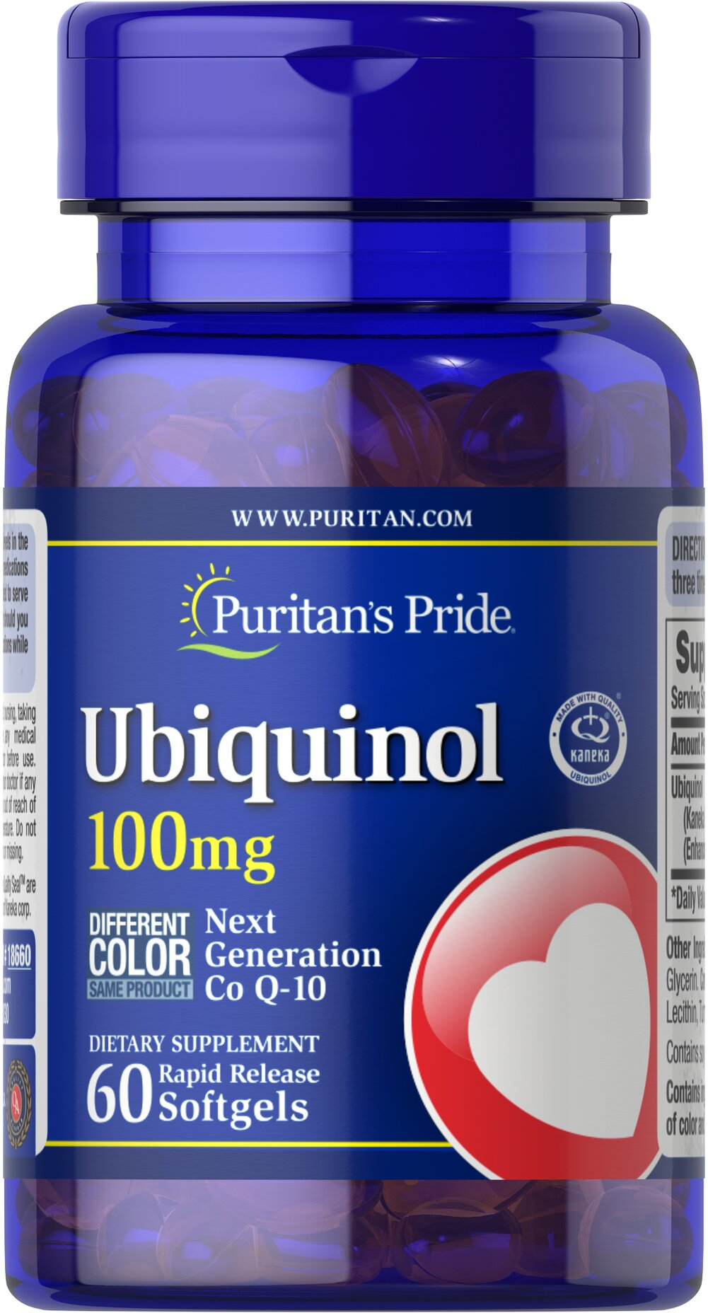 Ubiquinol 100 mg Thumbnail Alternate Bottle View
