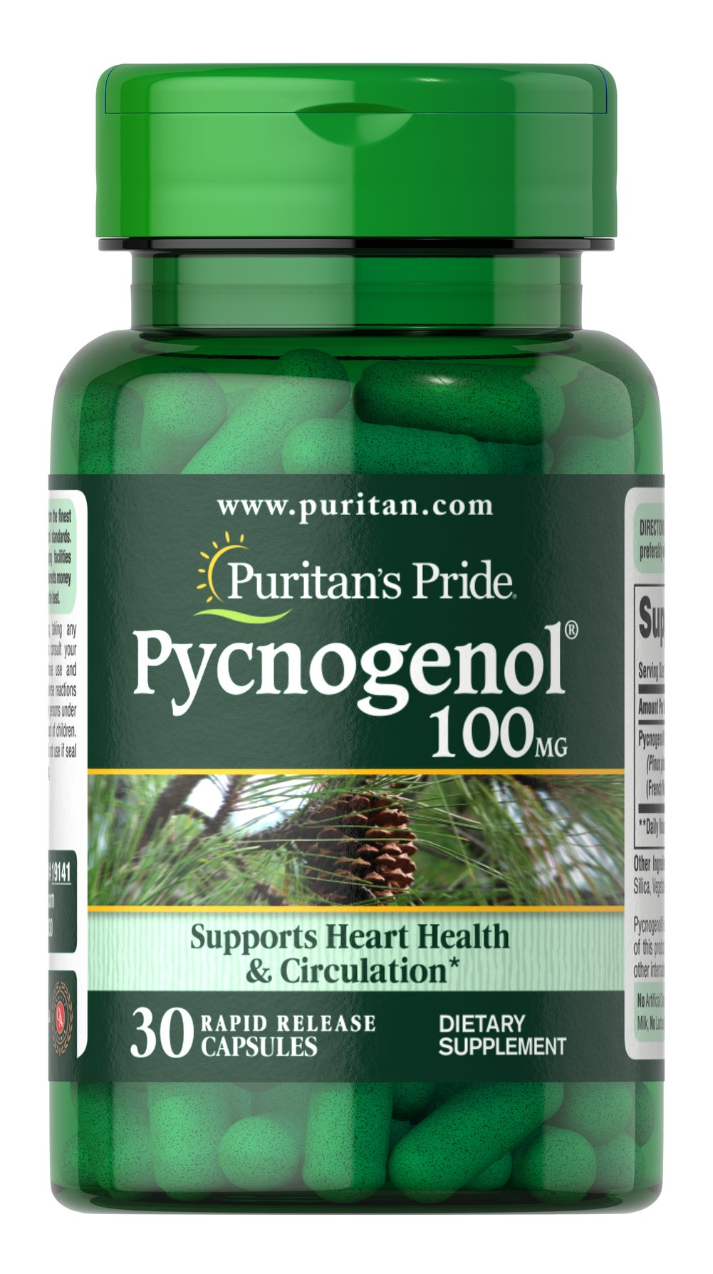Pycnogenol® 100 mg Thumbnail Alternate Bottle View