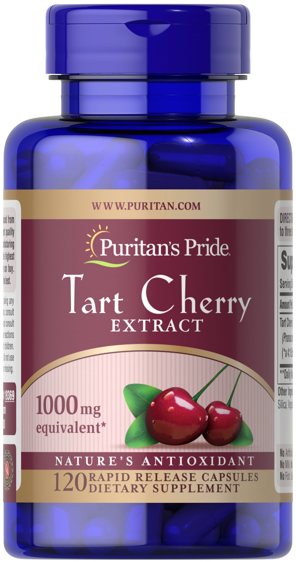 Tart Cherry Extract 1000 mg Thumbnail Alternate Bottle View