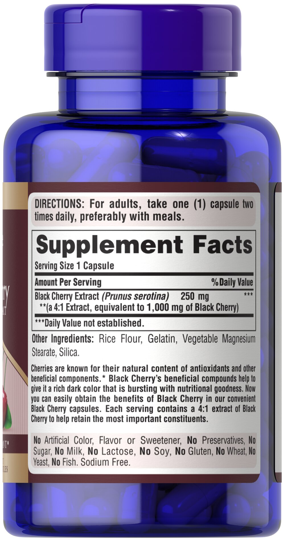Black Cherry Extract 1000 mg