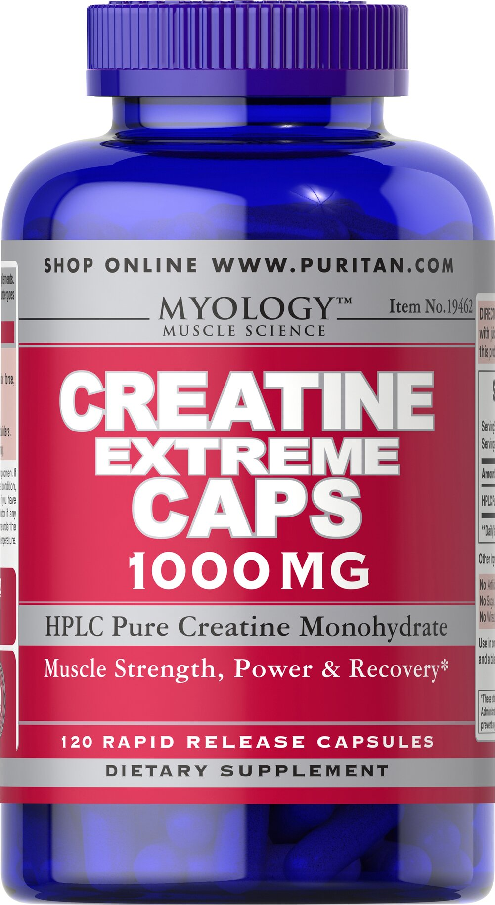 Creatine Extreme 1000 mg Thumbnail Alternate Bottle View