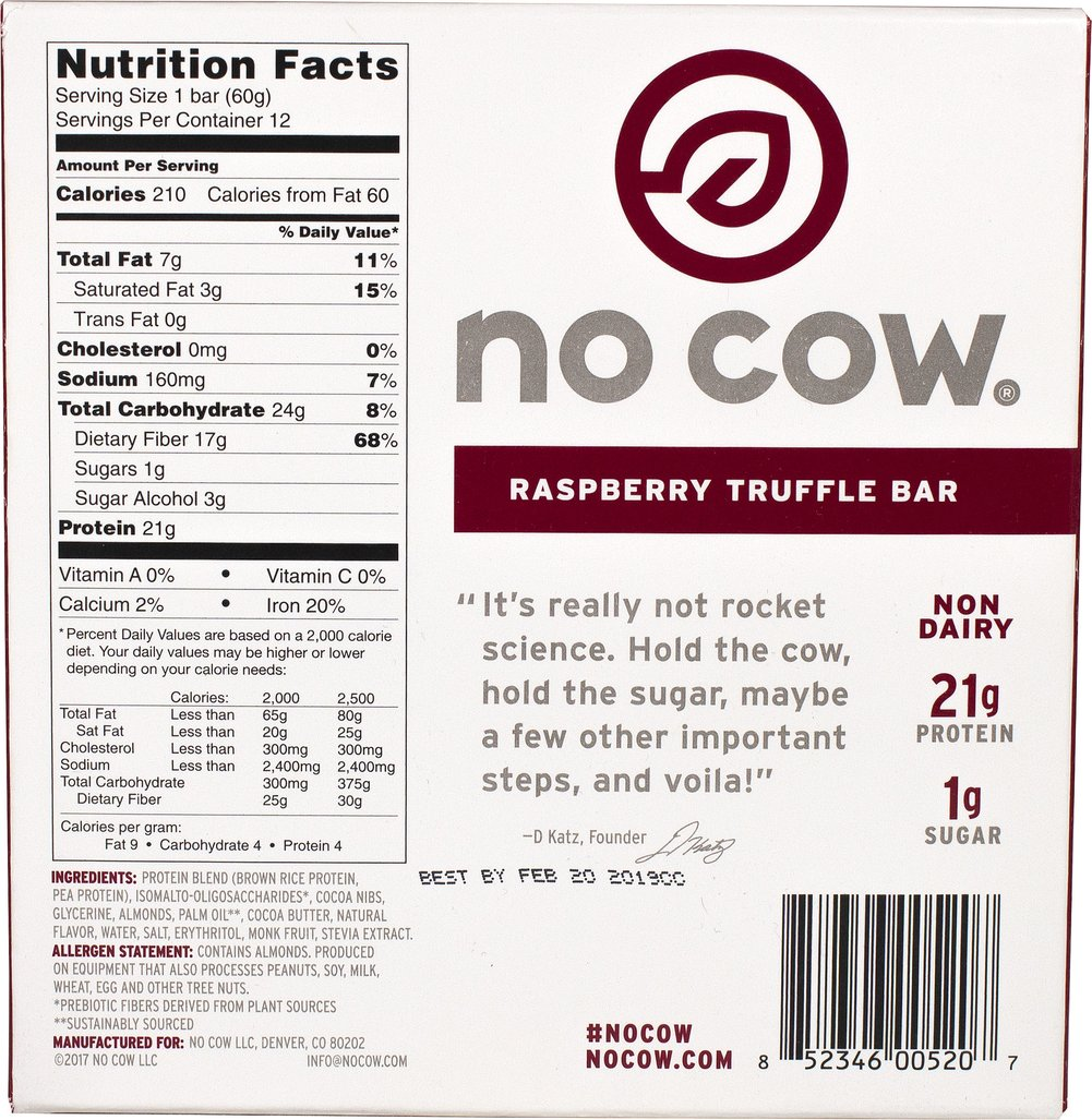 No Cow Bar Raspberry Truffle